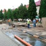 Primarul oraşului Câmpeni, Ioan Călin Andreş supraveghează îndeaproape stadiul lucrărilor de infrastructură locală