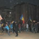 Aproximativ 500 de persoane au manifestat și astăzi la Câmpeni împotriva proiectului minier de la Roșia Montană