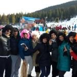 """Distracția este la ea acasă înainte de Anul Nou pe pârtia """"Vârtop"""" din Arieșeni"""