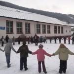 Mica Unire a fost sărbătorită de elevii şi preşcolarii din comuna natală a lui Avram Iancu