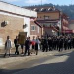 Ceremonie patriotică grandioasă la Câmpeni cu ocazia prezentării drapelului de luptă al uneia dintre legiunile lui Avram Iancu