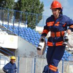 Profesoara Mariana Petrușe, din Câmpeni, este prima femeie din țară care a participat la o întrecere a pompierilor voluntari