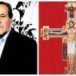 Pictorul-iconograf Ioan Toader din Albac a pictat o cruce uriașă de 5/4, metri ce a ajuns într-o biserică din Italia