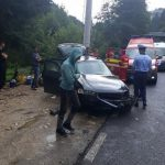 Două persoane au fost rănite, după ce mașina în care se aflau a intrat într-un stâlp, pe DN 75 la Albac