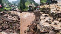 Inundațiile au pus stăpânire peste Gârda de Sus, în urma ploii torențiale căzute în această după-amiază